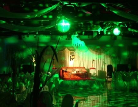 Iluminación de salón de Bodas